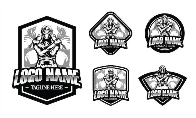 Ilustracja wojownik ninja