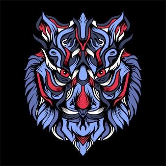 Ilustracja wół tygrysa