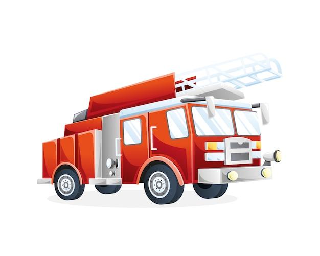 Ilustracja wóz strażacki