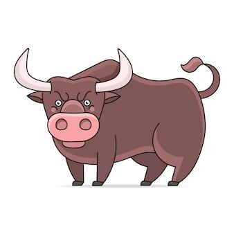 Ilustracja wściekły byk