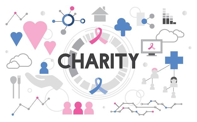 Ilustracja wsparcia charytatywnego