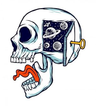 Ilustracja wszechświata w mojej głowie