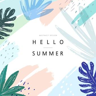 Ilustracja wydarzenia letnich zakupów. .tropikalny