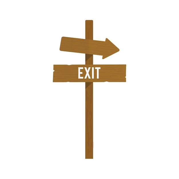 Ilustracja wyjścia znaka wektor