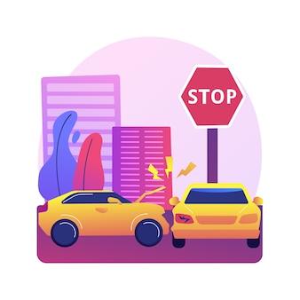 Ilustracja wypadku drogowego
