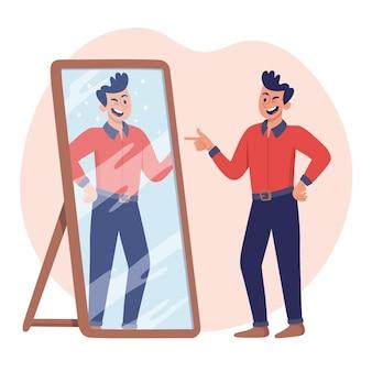 Ilustracja wysokiej samooceny