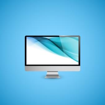 Ilustracja wyświetlacza komputera