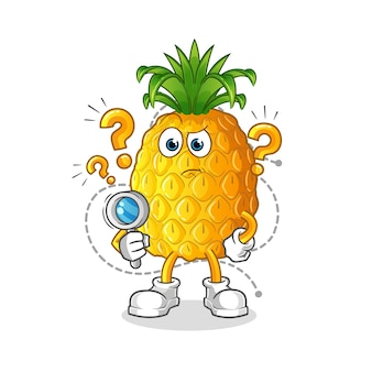 Ilustracja wyszukiwania ananasa