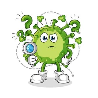 Ilustracja wyszukiwania wirusa. postać