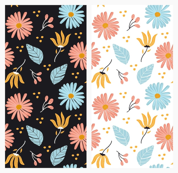 Ilustracja wzór kwiatowy