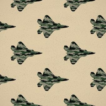 Ilustracja wzór myśliwca. obraz w stylu kreatywnym i wojskowym