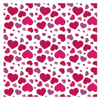 Ilustracja wzór serca na białym tle