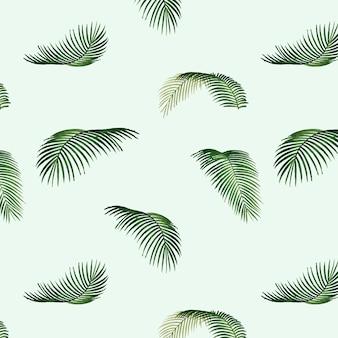 Ilustracja wzór tropikalny liść