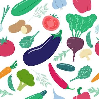 Ilustracja wzór warzyw
