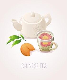 Ilustracja z chińską herbatą