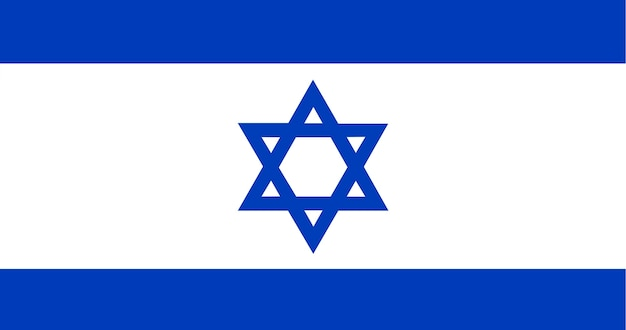 Ilustracja z flagą izraela