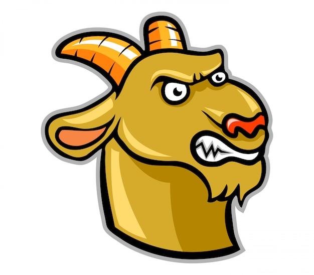 Ilustracja z głową kozy