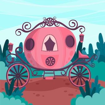 Ilustracja z koncepcją przewozu bajki