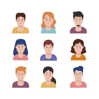 Ilustracja z ludźmi awatary