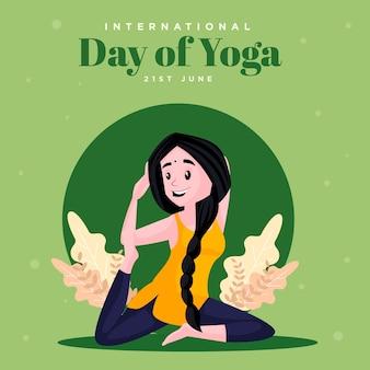 Ilustracja z międzynarodowego dnia projektowania transparentu jogi