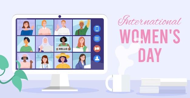 Ilustracja z okazji międzynarodowego dnia kobiet