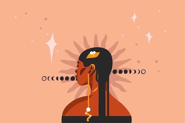 Ilustracja z plemiennych czarny piękny