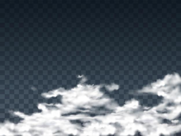 Ilustracja z przezroczystymi białymi chmurami