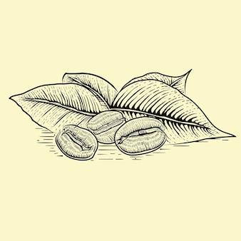 Ilustracja z ziaren kawy