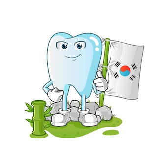 Ilustracja ząb koreański charakter