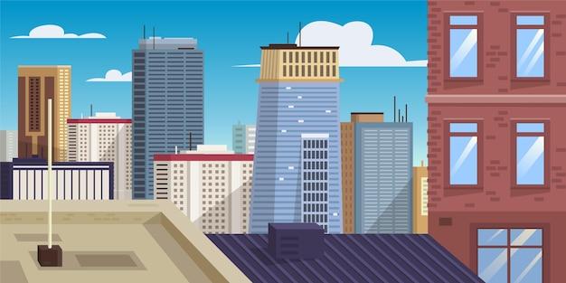 Ilustracja zabytków panoramę miasta