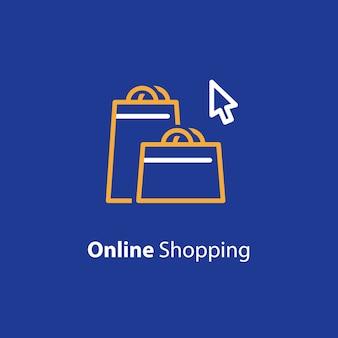 Ilustracja zakupów online