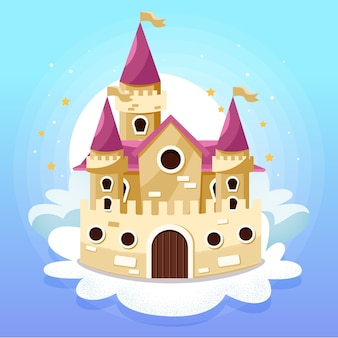 Ilustracja zamek bajki