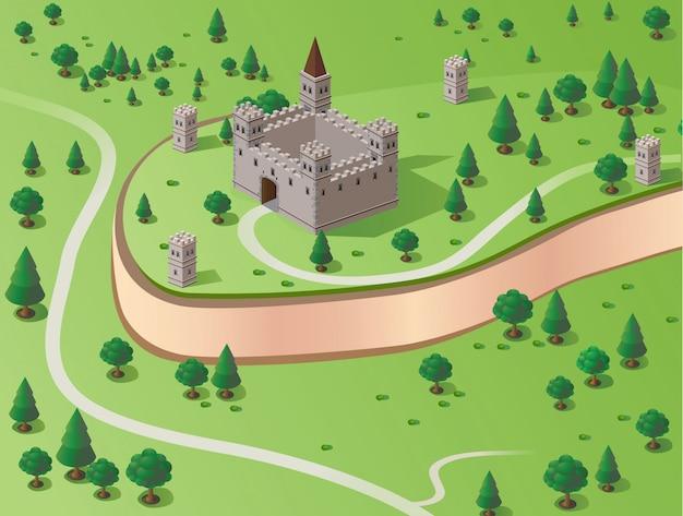 Ilustracja zamku