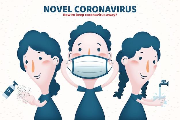 Ilustracja zapobiegania covid-19