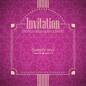 Ilustracja zaproszenie w stylu retro