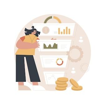 Ilustracja zarządzania lejkiem sprzedaży
