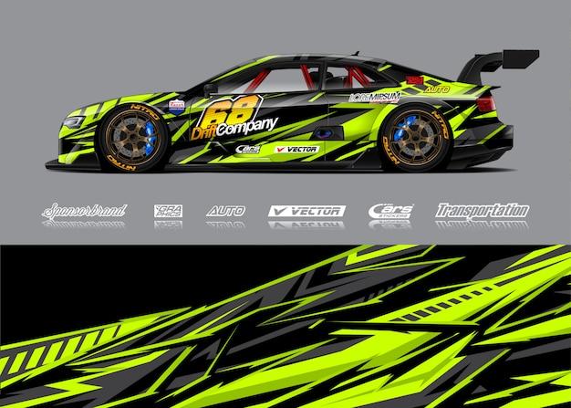 Ilustracja zawijanie samochodów wyścigowych