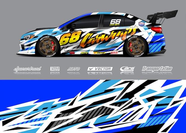 Ilustracja zawijanie samochodu wyścigowego