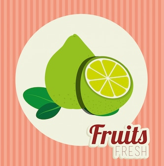 Ilustracja zdrowej żywności owoców