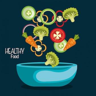 Ilustracja zdrowej żywności