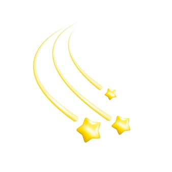 Ilustracja ze złotymi gwiazdami na białym tle do koncepcyjnego projektu metalicznego złotego tła