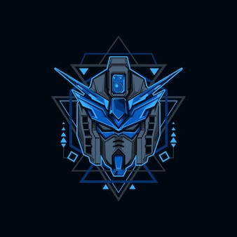 Ilustracja żelaza niebieski robot