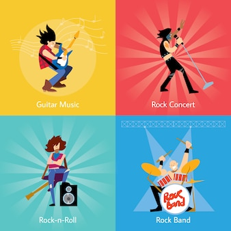 Ilustracja zespół muzyczny zespół rockowy