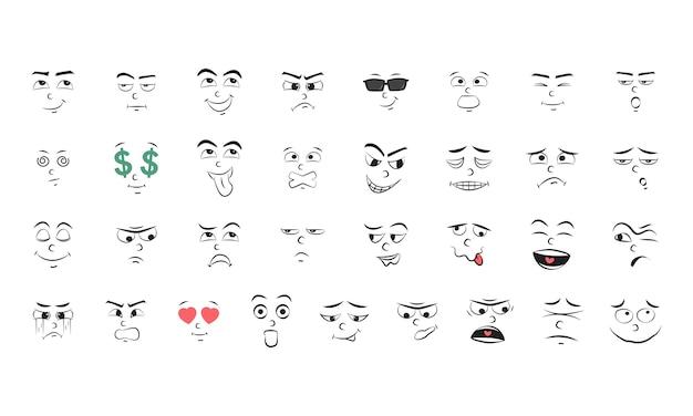 Ilustracja zestaw emocji