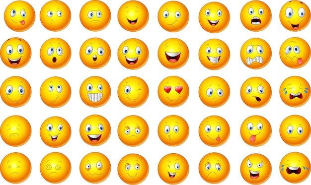 Ilustracja zestaw emotikon