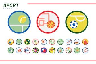 Ilustracja zestaw ikon sportowych