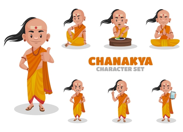Ilustracja zestaw znaków chanakya