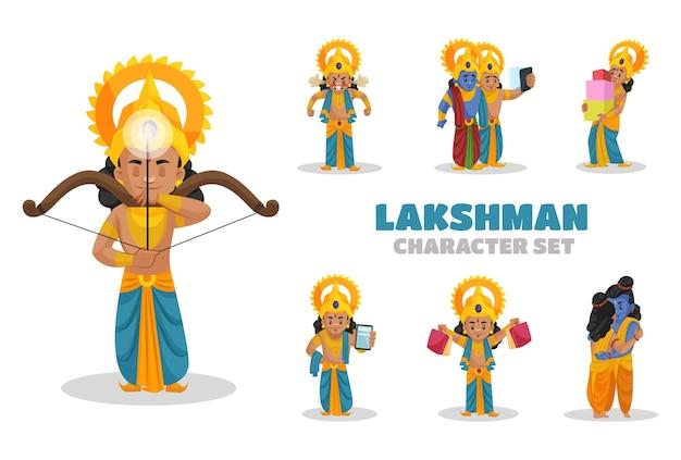 Ilustracja zestaw znaków lakshman