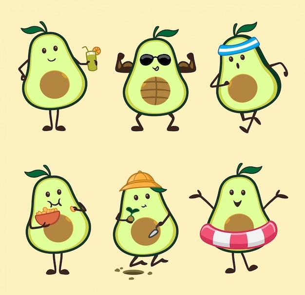 Ilustracja zestawu avokado