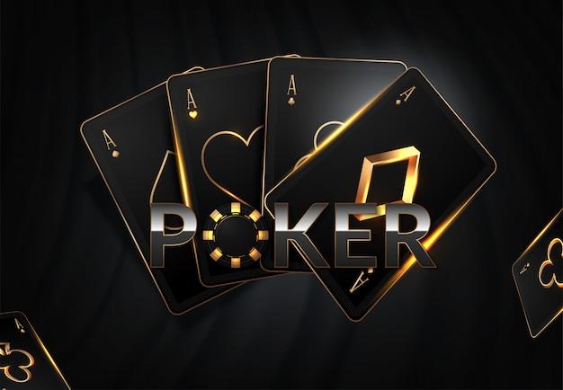 Ilustracja żetony kasyna, karty i miejsce na tekst